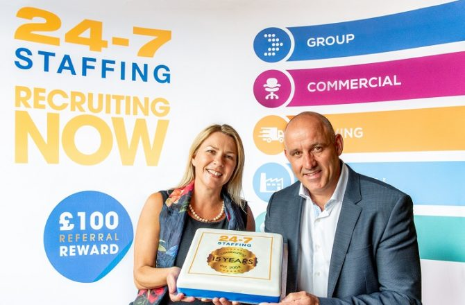 15 Years and Counting for Wiltshire Independent Recruiter 24-7 Staffing