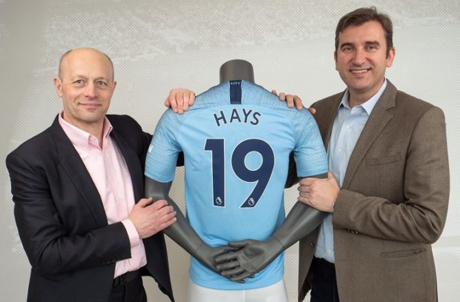 Hays and Manchester City Renew Partnership Until 2023