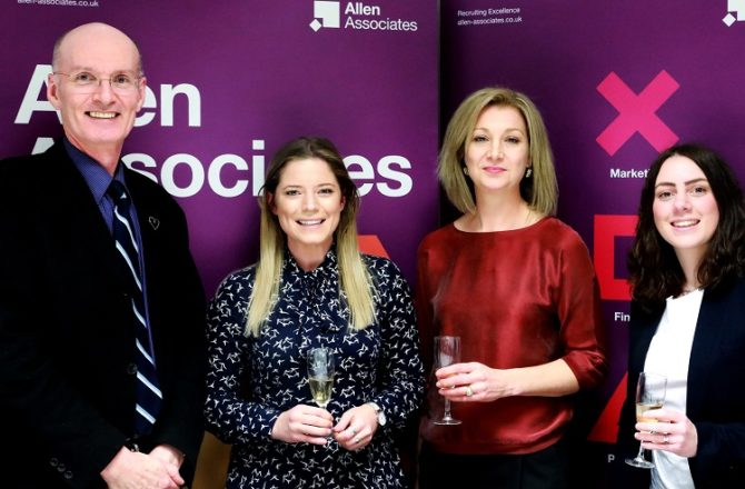 Exceptional HR Professionals Recognised by Leading Specialist Recruitment Agency Allen Associates