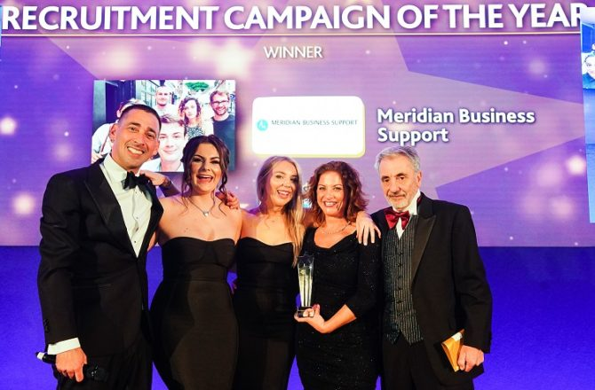 Meridian Business Support Bags Best Recruitment Campaign at IRP Awards