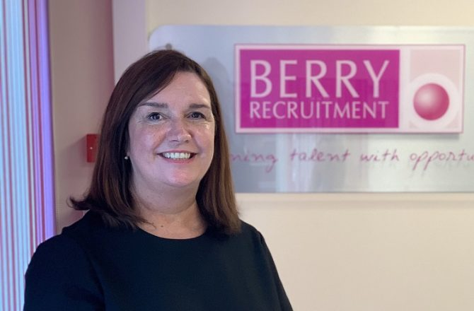 Jane Baran Appointed Manager of Berry Recruitment Maidstone