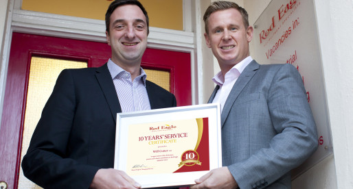 Will Cotter Achieves 10 Years Service with Folkestone Based Recruitment Agency Red Eagle