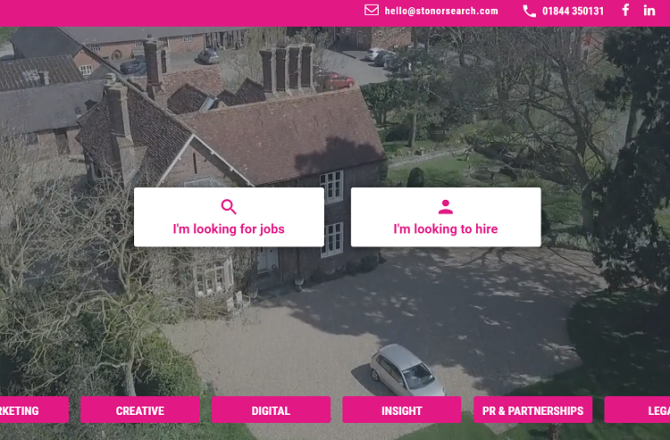 Stonor Recruitment Launches New Website!
