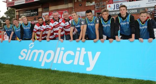 Simplicity and Gloucester Rugby Unveil Key Sponsorship Deal